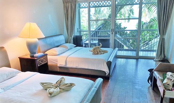 ラワ島の宿泊施設のお部屋
