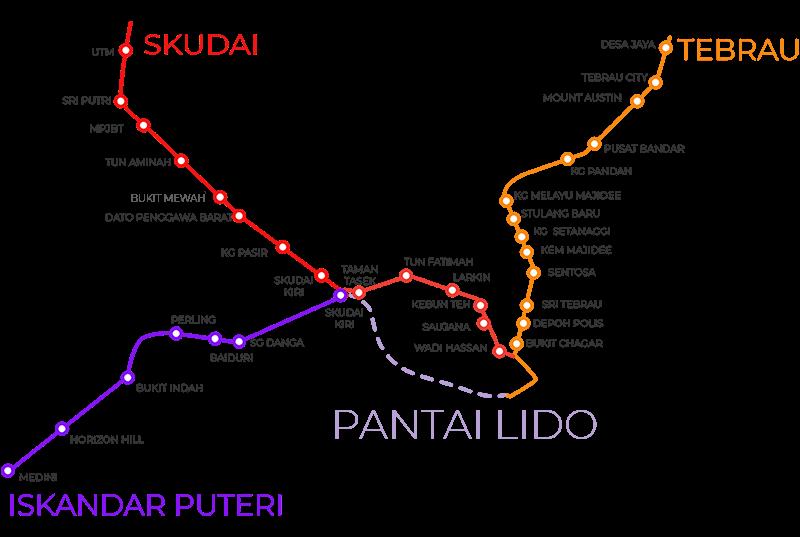 IMBRTの路線マップ