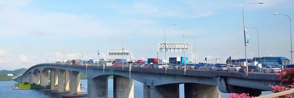 ジョホールバルとシンガポールを結ぶコーズウェイ
